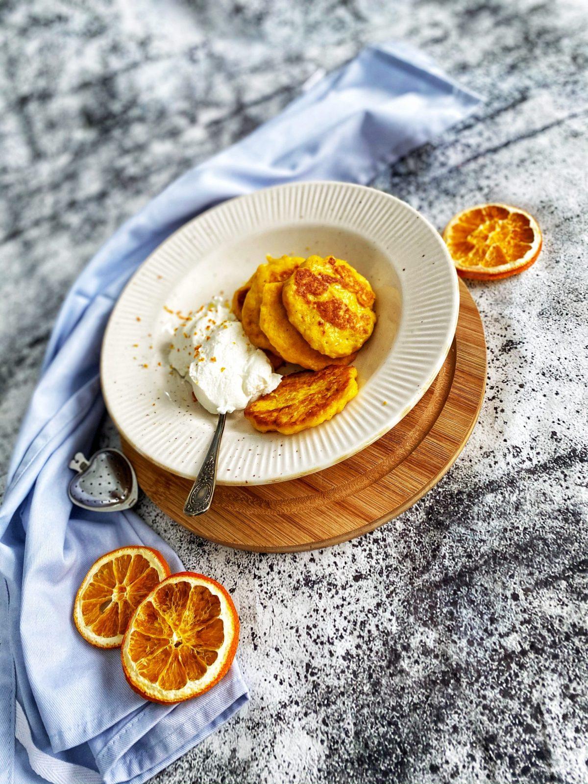 Moliūgo blynai su apelsino žievele