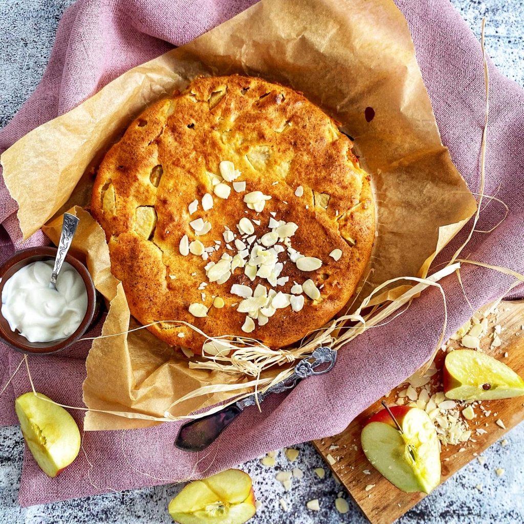Obulių pyragas su varške